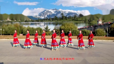 云裳广场舞《草原情话》花语老师原创蒙古舞附分解
