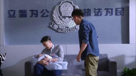 拐卖婴儿不停哭闹,警察都哄不好,警花老公一抱,婴儿立马不哭了