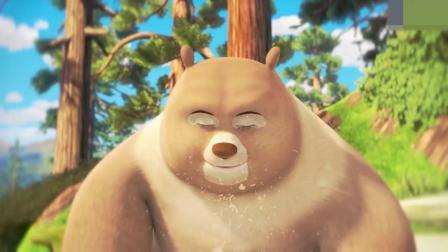 熊熊乐园:熊二手上和身上都有泥,熊二要帮妈妈擦桌子!