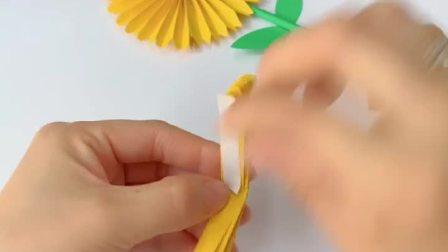 幼儿园作业,向日葵折纸小手工!#幼儿园手工作品
