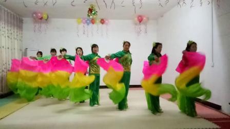 基督教舞蹈扇子舞(中华儿女一起来赞美)夹沟镇辛丰舞蹈团原创