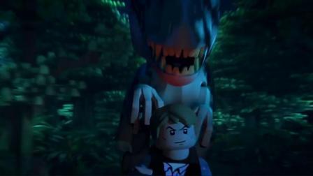乐高侏罗纪世界可怕的帝王暴龙追击