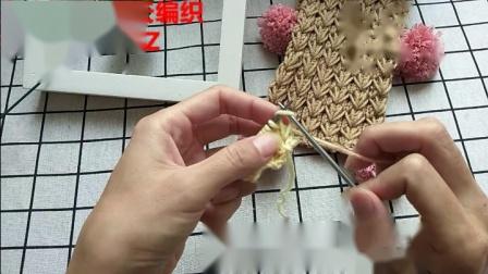 儿童围巾麦穗花样手工编织视频教程