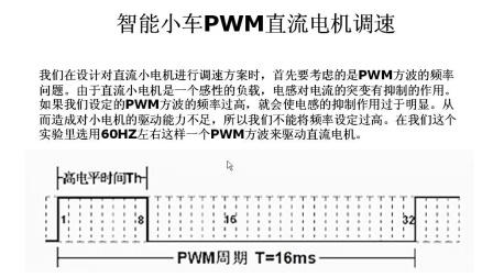 单片机学习教程 019-PWM脉冲宽度调制与智能小车PWM直流电机调速