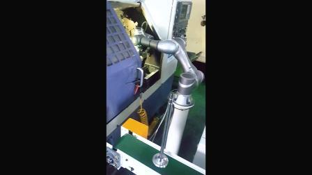TM 手臂搭配CNC加工机工料取放