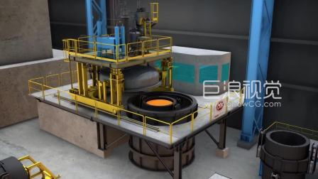 智能炼钢连铸生产线三维动画-巨浪视觉-上海三维动画