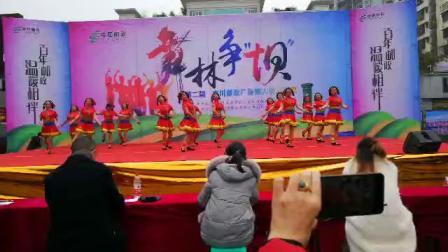舞蹈《欢乐旋舞》南川区铂金鸟巢舞蹈队比赛荣获第一名