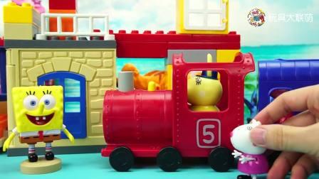 小猪佩奇玩具故事佩奇用火车帮羚羊夫人运输水果