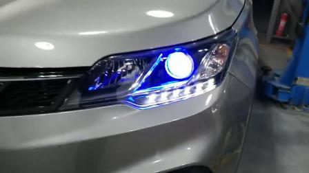 石家庄东南汽车改装,DX3车灯改装,东南大灯不亮升级透镜大灯