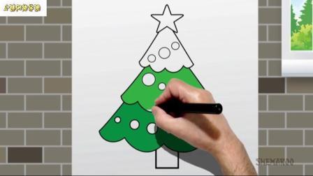 学习如何为孩子们画一棵圣诞树