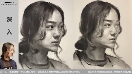 第二九七集 女青年素描头像示范视频常速版