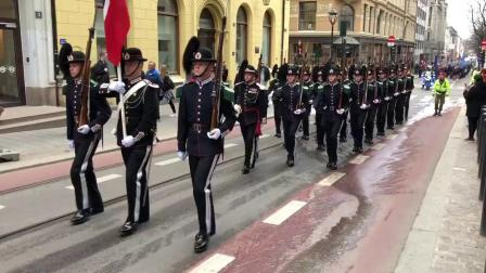 挪威奥斯陆 2018军乐节 开幕式巡游
