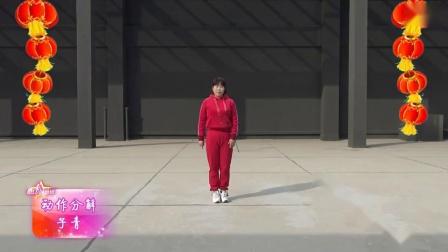 子青广场舞《猪年大吉》2019新年舞蹈 演示和分解动作教学 编舞子青