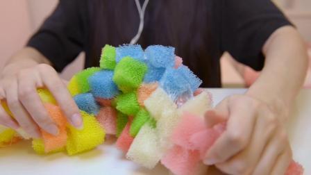 Rainbow Honeycomb Slime