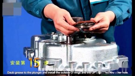 重汽豪沃HW变速箱拆装操作视频之后壳的装配