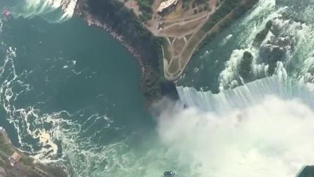 这是北美最宽的瀑布。瀑布非常长,周围生态好,看不到垃圾,所以很壮观🌊