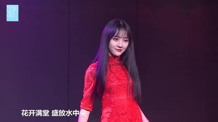 女神莫寒一袭大红旗袍惊艳亮相,实力演绎《一花依世界的风月》 SNH48剧场公演 20190126