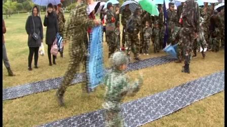 弘正教育星蕾分园及喜羊羊分园2018年秋季学期娃娃兵军式演习活动科目训练