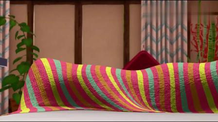 《芭比之海豚魔法》美人鱼艾拉非常喜欢人类的床!