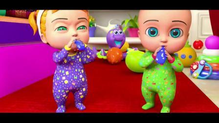 儿童英文歌曲:吹气球,早教启蒙英语