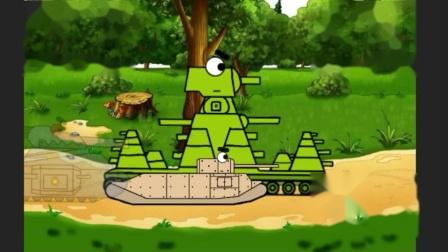 坦克世界搞笑动画:小坦克发力