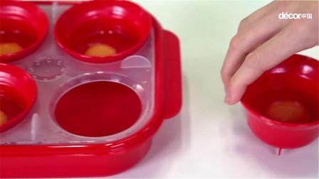 Decor 微波蒸蛋器 快速早餐,荷包蛋、班尼迪克蛋只需2分钟!