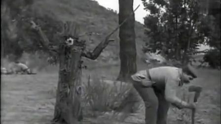 卓别林从军记敌后战场,伪装树一招鲜团灭敌军三人小队