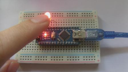 玩转Arduino图形化编程基础版8-智能夜光灯(光控LED)