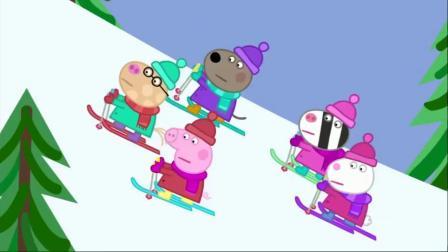 小猪佩奇第六季滑雪板来这里领滑雪板吧