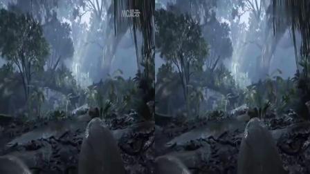 vr视频体验 侏罗纪恐龙世界3D格式转换VR体验