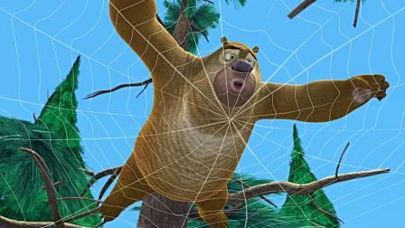 熊出没之春日对对碰,光头强变成蜘蛛侠