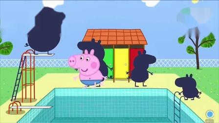 佩奇喬治和豬爸爸跳水 游戲