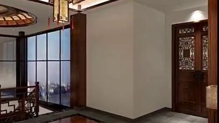 中式风格别墅装修全景效果图
