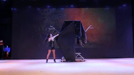 上海美女魔术师大型魔术  高低箱换人