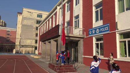 盘锦市双台子区建设小学升旗仪式