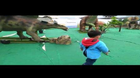 崽崽玩在恐龙乐园(摄像)