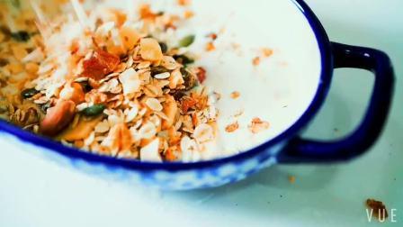 #FOOD #xiuyuan 香蕉烤燕麦🍌
