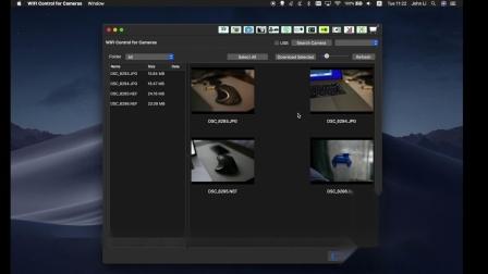 使用WIFI Control for Cameras在 Mac上无线连接尼康相机