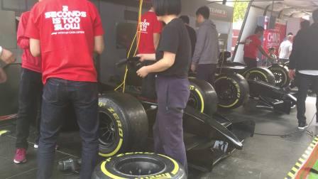 190412-15:35晁安雅陶美梦F1上海赛车 展区 换轮胎速度比赛