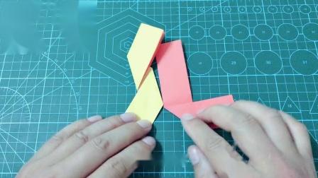 3D立体飞镖玩具,一张纸就做好了,手工折纸玩具视频