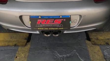 RES 改装排气 06款987卡曼 改装RES高性能阀门排气管