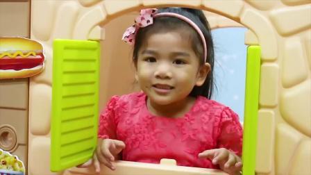 趣味食玩:小萝莉玩小猪佩奇快餐店早教厨房玩具DIY迷你披萨!