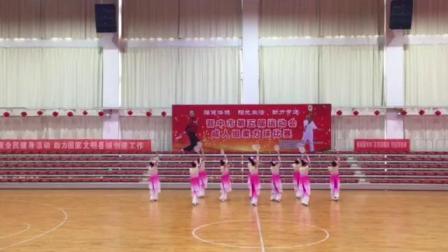 """2019.4.20寿阳队灵石""""天星杯""""柔力球集体自编套路《幸福中国一起走》"""