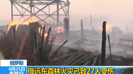 俄远东森林火灾已致27人受伤