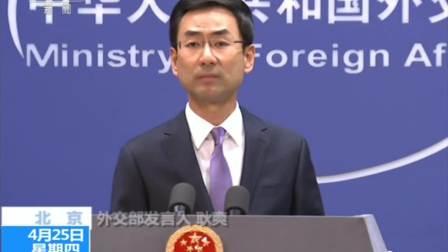 """中国外交部将认真研究""""一带一路""""报告建议"""