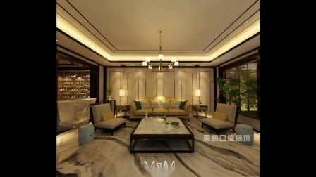 重庆巴塞阳光 500㎡别墅新中式风格装修效果图