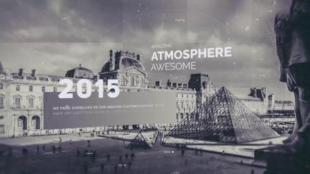 AE模板 震撼大气历史回顾时间线 老照片视差图文展示视频宣传片