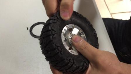 DC 2.2寸金属轮毂夹1.9寸龙爪轮胎 安装视频