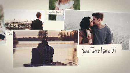 PR模板+AE模板 浪漫温馨情侣爱情故事告白订婚礼暖场生活电子相册