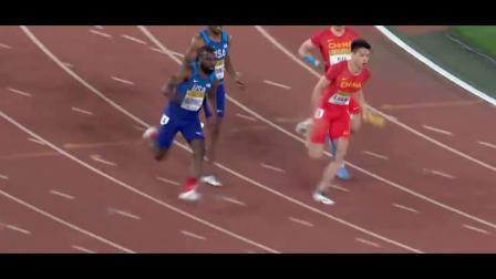中国队遗憾失奖牌 日本队交接失误 国际田联世界接力赛男子4×100米接力预决赛